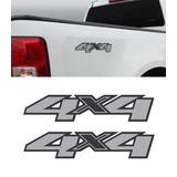 Par Emblema Adesivo 4x4 Nova S10 2012 2013 2014 Grafite 1 A