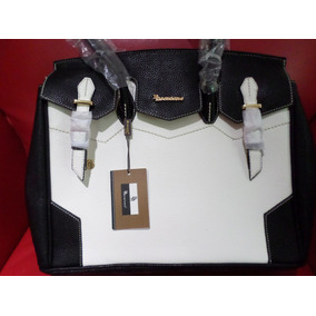 Bolsa Brentano Tipo Portafolios Negro Blanco Grande