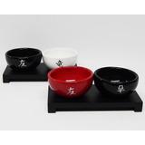 Cuenco Sushi X2 Plato Bandeja Oriental Feng Shui