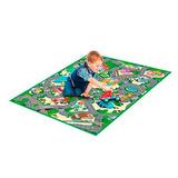 Alfombra Carpeta Infantil Calles Pista Mediana 100 X 120cm
