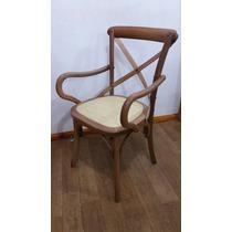 Cadeira Katrina/paris C/ Braço Madeira-decorativa Palha