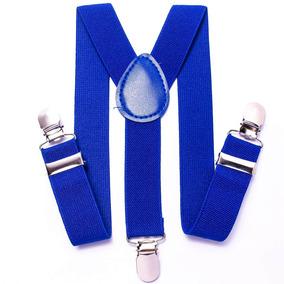 Suspensório Azul Royal De Elástico Ajustável Infantil