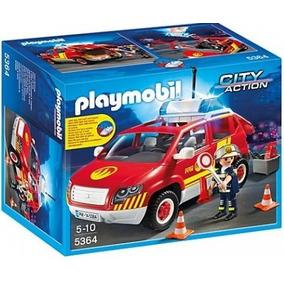 Playmobil 5364 Coche Jefe De Bomberos Con Luces Y Sonido