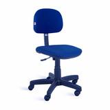 Cadeira Secretária À Gás Assento E Encosto Com Capa Plástica