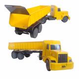 Miniatura Carreta Basculante Plastico Caminhão Caçamba 53cm