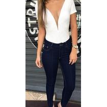 Calça Skinny Jeans Com Vinco Revanche