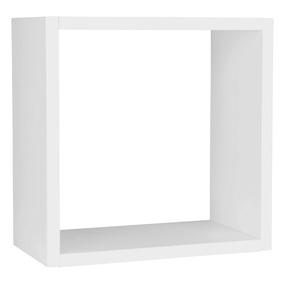 Nicho Cubo Prateleira Em Mdf Branco P/ Decoração 19x19x10