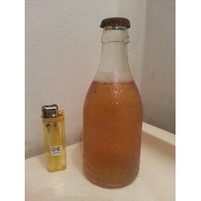 Botella Antigua Llena Labrada Cerveza Guerriero Swqc