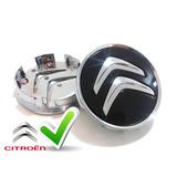 Calotinha Tampa Roda Citroen 58mm C3 C4 C5 Ds3 Ds4 Preta
