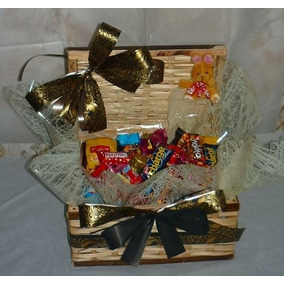 Cesta De Pascoa Presente 30 Mini Chocolate E Mini Coelho