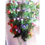 Flores Atificiales 12 Varas Rococo Tela Variedad De Colores