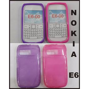 Funda Nokia E6 Silicona Tpu Gel Protector Violeta Rosa