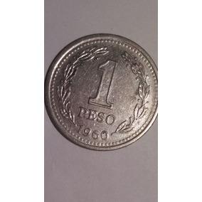 Moneda De La Republica Argentina De 1 Peso Año 1960