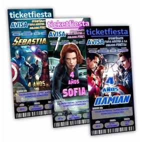 50 Invitaciones Impresas Avengers Ironman Hulk Envio Gratis!