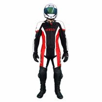 Macacão Couro Moto Texx Ghost 2 Peças