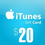Itunes (us) Gift Card 20$ - Ipad, Iphone, Mac, Ipod Nuevas!
