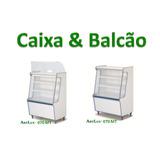 Balcão E Caixa Seco Expositor Balas Kit Lanchonete 02 Peças