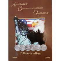 Album Eeuu Con 56 Monedas Quarters Estados