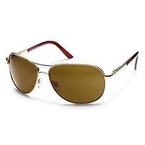 Gafas Suncloud Óptica Gafas De Sol De Aviador Oro, Marrón P