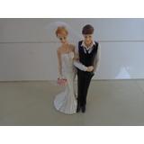Topo De Bolo Casamento Em Resina Noivinhos Frete Grátis