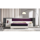 Dormitorio Lineal Moderno,cama 2 Plz+ 2 Veladores Dl 6