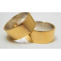 Aliança De Moeda Antiga Barata Casamento Noivado Cor Ouro