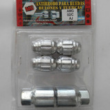 Set Antirrobo Mg 4 Tuercas Cromadas Chevy 400 C10 7/16 Cd02c