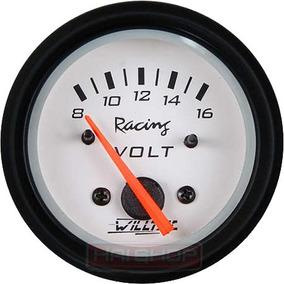 Voltímetro Willtec 52mm Instrumento Automotivo Neon Tuning