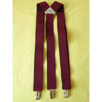 Tirador Pantalón Suspenders Pinza Madison Bordó 3cm