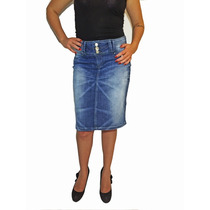 Saia Jeans Evangélica Com Bordado - Mix Jeans