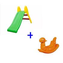 Escorregador Infantil Pequeno + Gangorra Balanço Nhoca