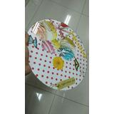 Plato De Vidrio Giratorio 360 Para Queso Tortas Cupcake 30cm