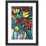 Quadro Flores Abstrato Colorido Moderno Decorativo Pop Arte