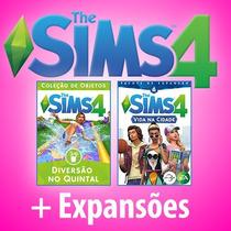 The Sims 4 + Todas Expansões E Pacotes 2017 + Vida Na Cidade