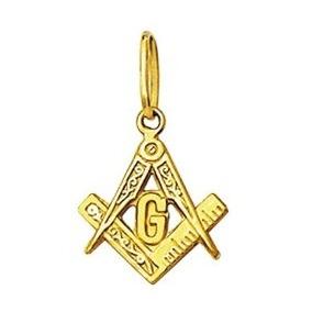 Leão Jóias Pingente Medalha Maçon Ouro 18k 1,1 Cm Pequeno