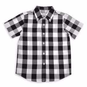Camisas A Cuadros Niños Manga Corta