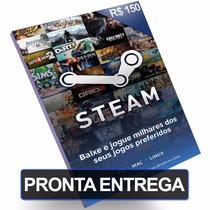 Cartão Steam R$150 Reais Pré-pago Game Card Pc