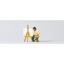 Pintor Del Paisaje W / Caballete Y Pintura Modelos Ho Preise