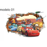 Adesivo Decorativo Disney 3d Tema Carros 70cm X 50cm
