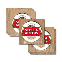 Conjunto 6 Porta-copos Brasão Stella Artois