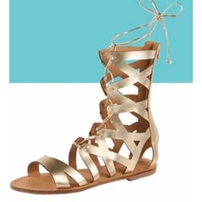Sandalia Gladiador Dorada + Envío + 3 Chokers Fashion