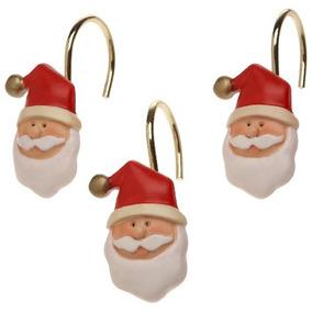 Clavel Home Fashions Santa Claus Cerámica Resina Cortina De