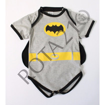 Body Infantil Batman Com Capa Super Herois