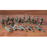 Vintage Lote De 15 Soldados De Plomo