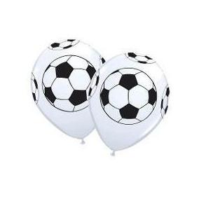 Balão Bexiga Latex Bola De Futebol - Kit C/ 25 Unidade