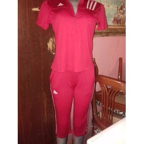 Conjunto Dama adidas Pantalon Capri Tall M Rojo