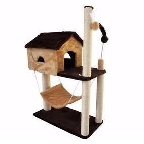 Arranhador Gato Casa C/ Rede Mr/bg