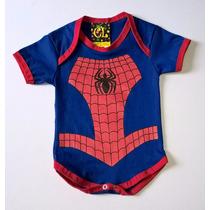 Body Personagem Infantil Homem Aranha- Super Heróis