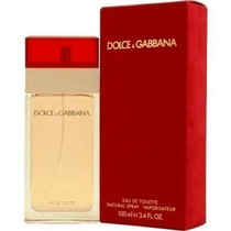 Perfume Feminino Dolce Gabbana 100ml Tradicional Vermelho.