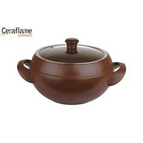 Panela Sopeira 24cm Cerâmica 6000ml Chocolate - Ceraflame